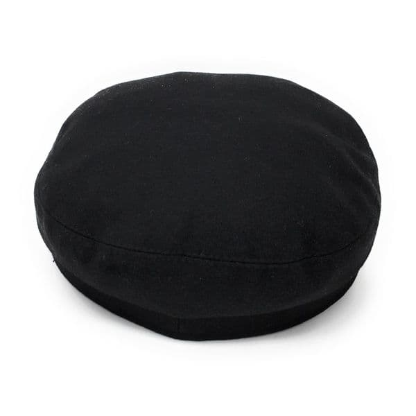 Melton Wool Mariner Fisherman Cap with removable rope - Black